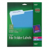 Avery 5029 Clear Permanent File Folder Labels