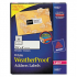 Avery 5522 WeatherProof Durable Mailing Labels