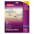 Avery 18665 Clear Shipping Labels