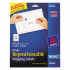 Avery 58164 Repositionable Labels