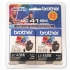 Brother LC41BK2PKS Black Ink Twin Pack